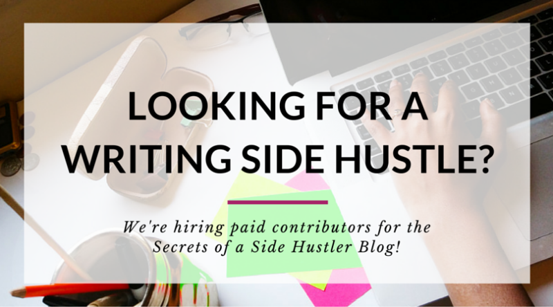 Ready to share YOUR side hustle secrets? We're hiring contributors!